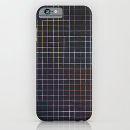 Bauhaus Mod - Graph Paper iPhone Case