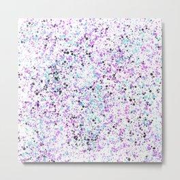 Purple Sprinkles Metal Print
