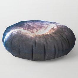 Star Field in Deep Space Floor Pillow