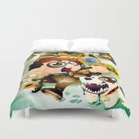 sherlock holmes Duvet Covers featuring Be Sherlock Holmes by leo cheung