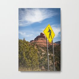 A walk in Arizona Metal Print