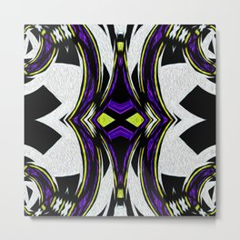 Tribal Spin Abstract Collection II Metal Print