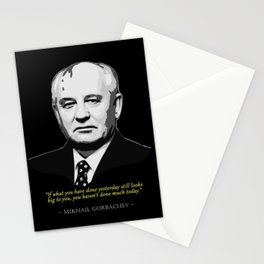 Mikhail Gorbachev Quote Stationery Cards