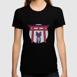 Kitsune - Fox Visits Shrine in Japan T-shirt