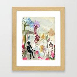 Giraffe - My Dream Garden series Framed Art Print