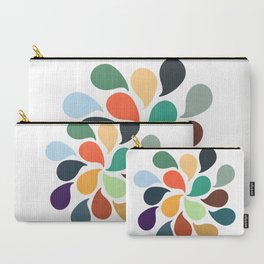 Colorful Water Drops Carry-All Pouch