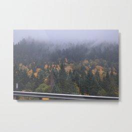 Fall & Foggy Mountain Metal Print