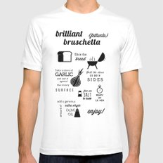 Brilliant Bruschetta Mens Fitted Tee White MEDIUM