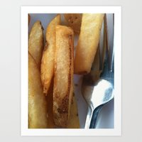 fries Art Prints featuring Fries by Wild World Of Food