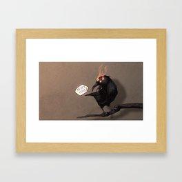 never more Framed Art Print