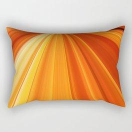 Bright Orange Sun Glare Rectangular Pillow