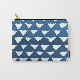 Indigo Triangle Mountains Pattern Carry-All Pouch