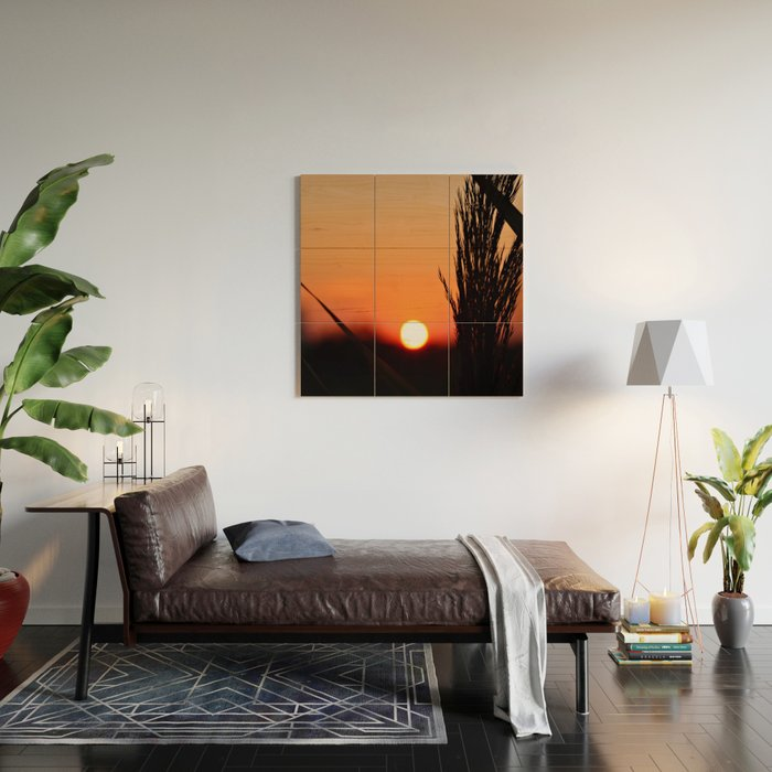 Through to the Setting Sun Wood Wall Art