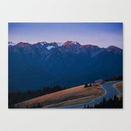 Sunrise over the Olympic mountains Canvas Print