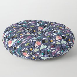 Mountains - Navy Floor Pillow