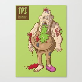 Fat Zombie Canvas Print