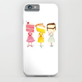 Cake Head Pin-Ups iPhone Case