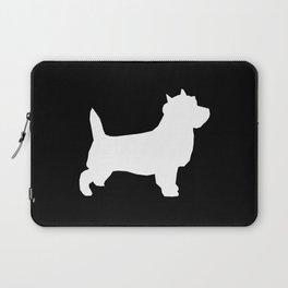 Cairn Terrier dog breed black and white dog pattern pet dog lover minimal Laptop Sleeve