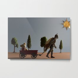 Boba Fett at Play Metal Print