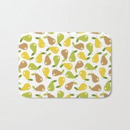 Bitten pears Bath Mat