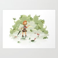 Raining Frogs Art Print