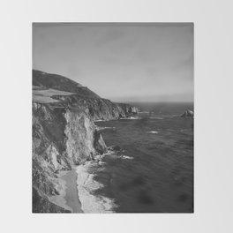 Monochrome Big Sur Throw Blanket