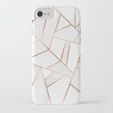 White Stone & Copper Lines Slim Case iPhone 7