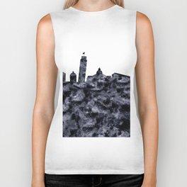 Pisa Skyline Italy Biker Tank