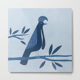 Umbrella Bird Metal Print