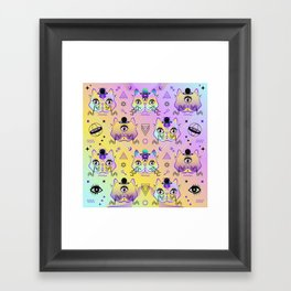 Galactic Cats  Framed Art Print