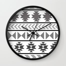 Winter Aztec Wall Clock