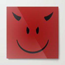 Devil Emoji Metal Print