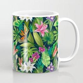 Tropical Lush Sanctuary, A Bohemian Paradise Coffee Mug