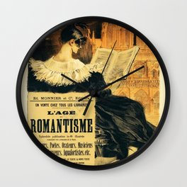 Librarie Romantique Wall Clock