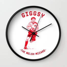 Giggsy - The Welsh Wizard Wall Clock