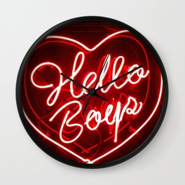 Hello Boys Wall Clock