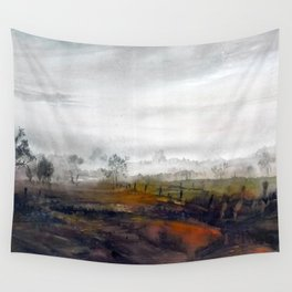 Misty meadow Wall Tapestry