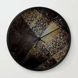 Dark Light Stained Glass Wall Clock