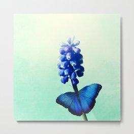 Blue bells on wings Metal Print