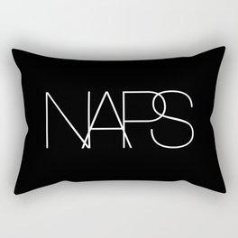 Naps Cosmetic Chic Black Typography Rectangular Pillow