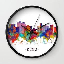 Reno Nevada Skyline Wall Clock
