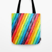 candy Tote Bags featuring Rainbow Candy: Licorice by WhimsyRomance&Fun