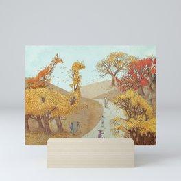 The Night Gardener - Autumn Park Mini Art Print