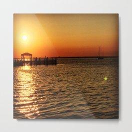 Sunset on the Bay Metal Print