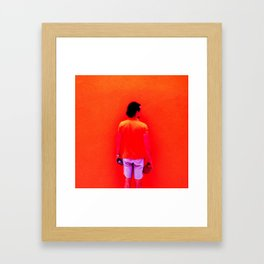 Santos Orange Framed Art Print