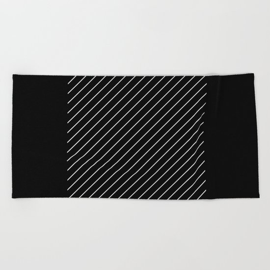 Minimalism - Black and white, geometric, abstract Beach Towel