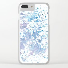 Colorful sponge Clear iPhone Case