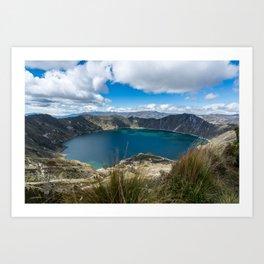Quilotoa Crater Lake Art Print