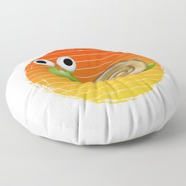 snail for people who land snaills and slugs  Floor Pillow