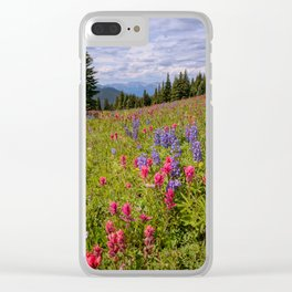 SHRINE RIDGE COLORADO SUMMER MOUNTAIN WILDFLOWERS LANDSCAPE PHOTOGRAPHY Clear iPhone Case